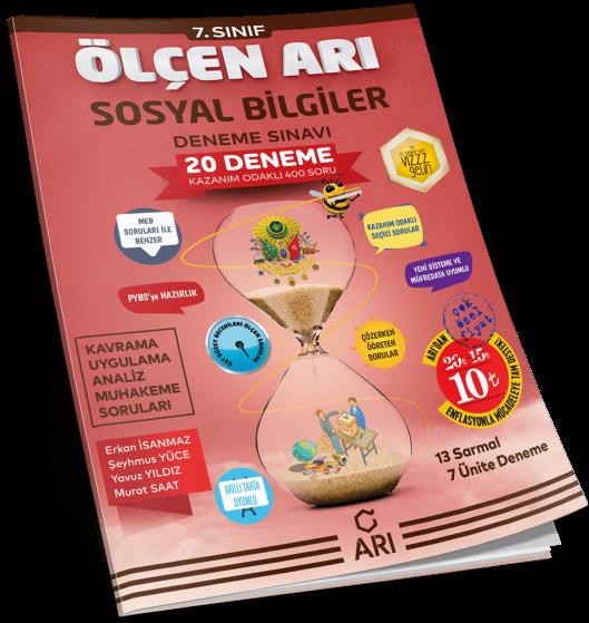 Arı Yayıncılık 7. Sınıf Sosyal Bilgiler Ölçen Arı 20 Deneme Sınavı
