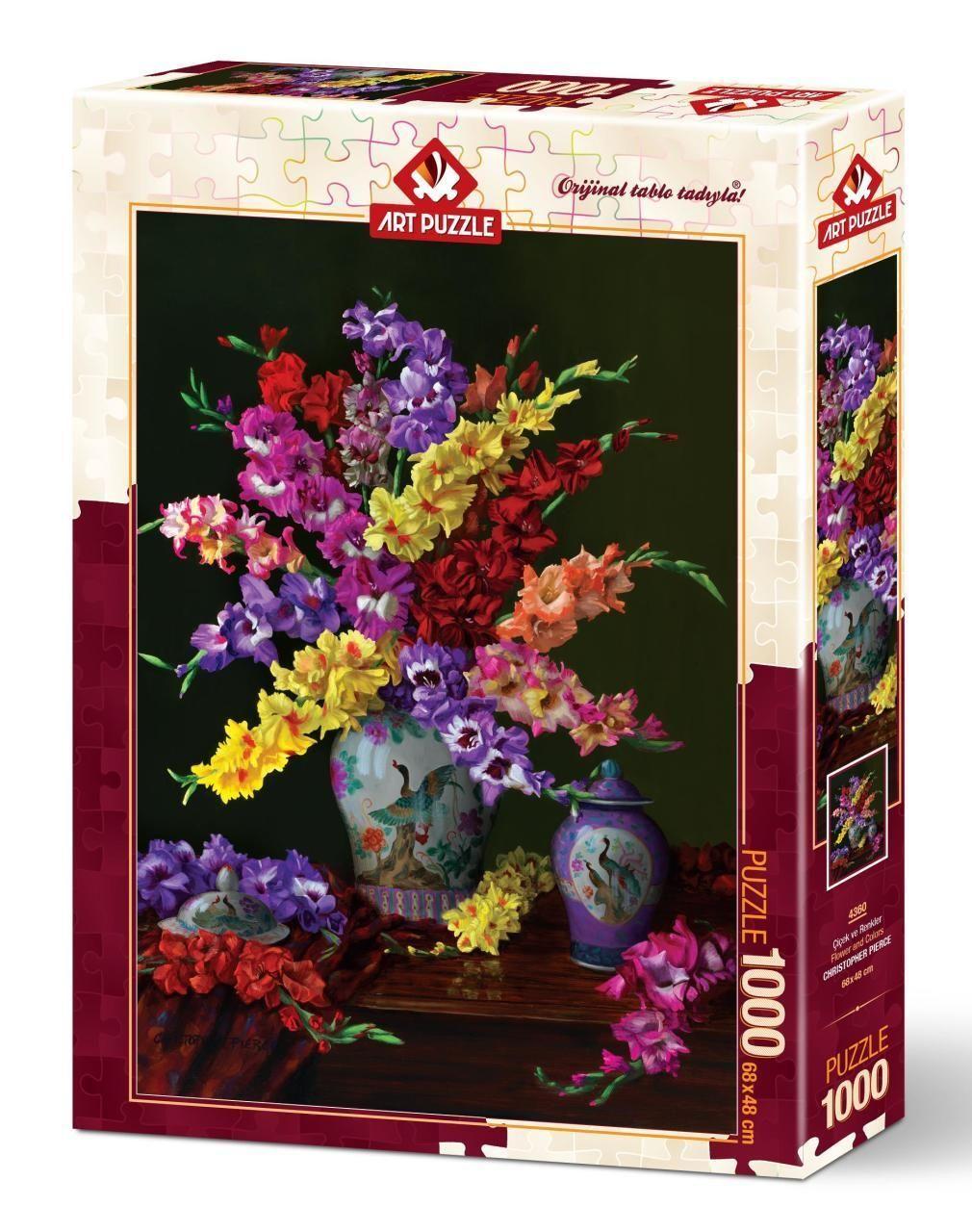 Art Puzzle Çiçek Ve Renkler 1000 Parça