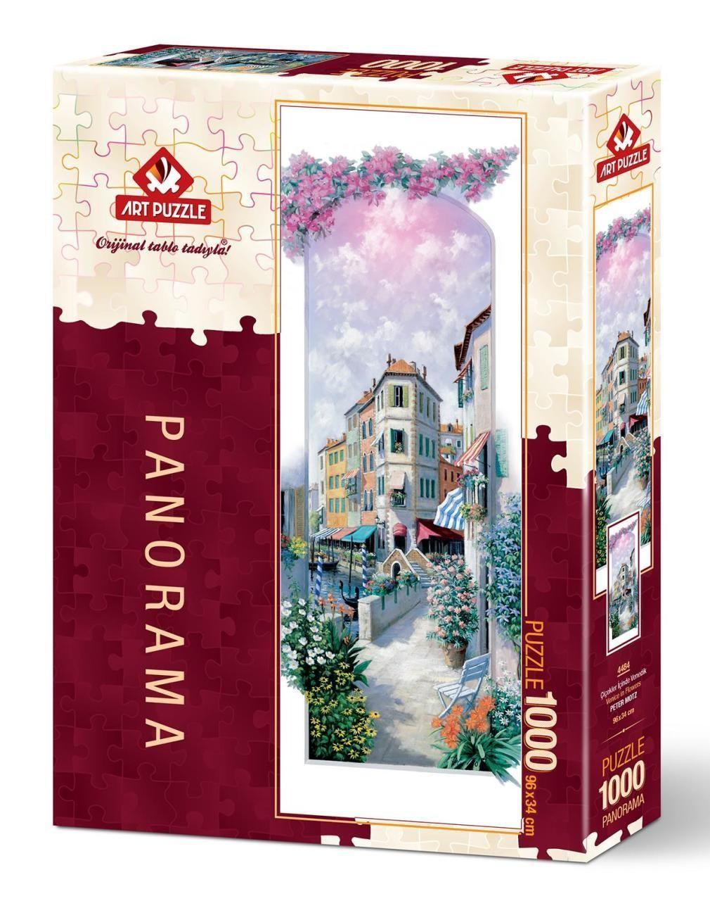 Art Puzzle Çiçekler İçinde Venedik 1000 Parça Panorama