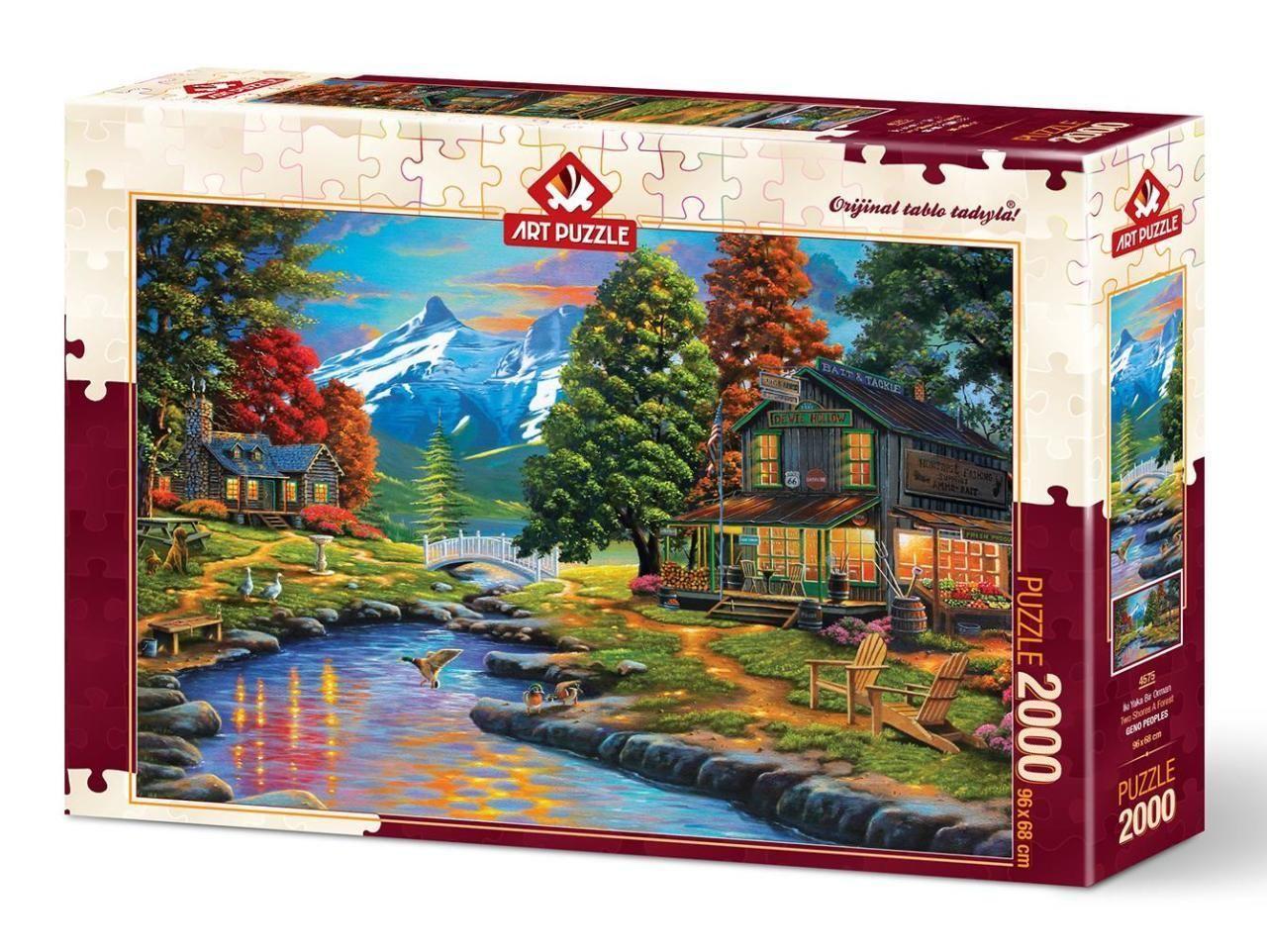Art Puzzle İki Yaka Bir Orman 2000 Parça