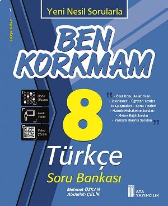 Ata Yayıncılık 8. Sınıf Türkçe Ben Korkmam Soru Bankası