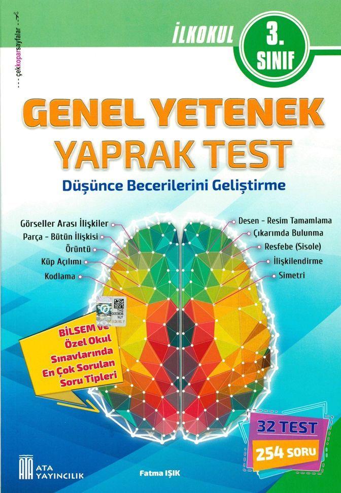 Ata Yayıncılık 3. Sınıf Genel Yetenek Yaprak Test