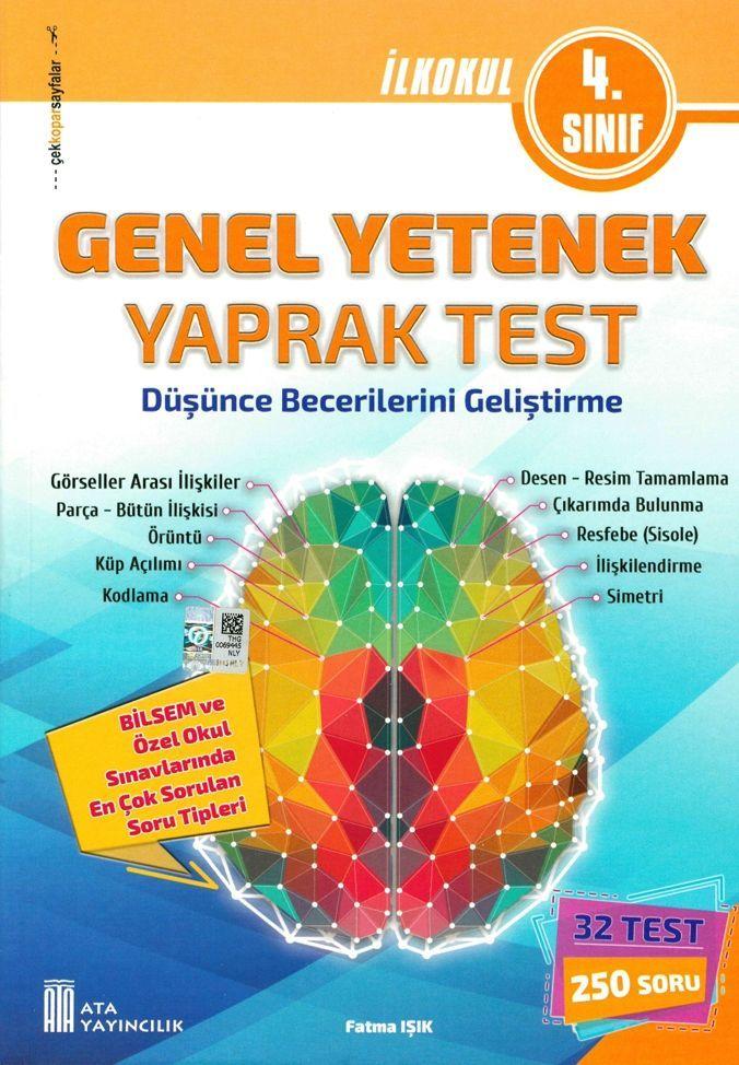 Ata Yayıncılık 4. Sınıf Genel Yetenek Yaprak Test