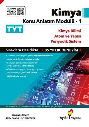 Aydın Yayınları TYT Kimya Konu Anlatım Modülü 1