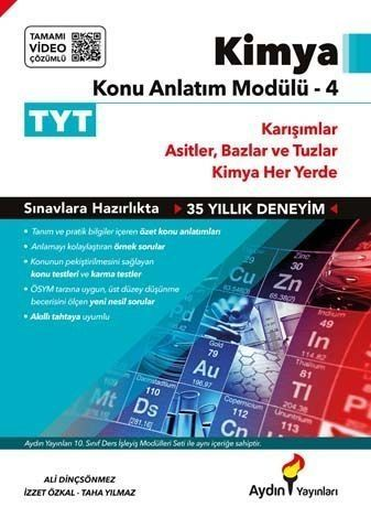 Aydın Yayınları TYT Kimya Konu Anlatım Modülü 4