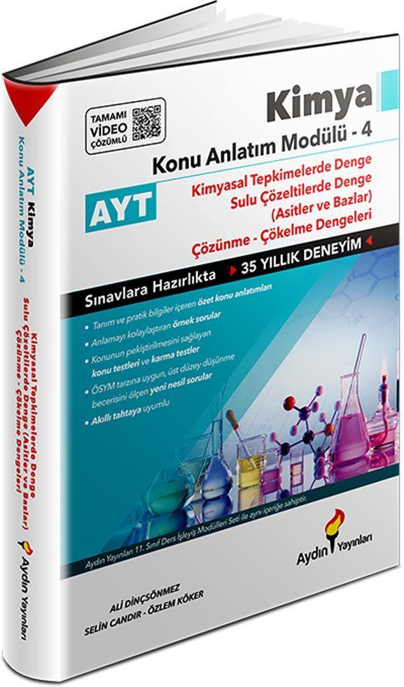 Aydın Yayınları AYT Kimya Konu Anlatım Modülü 4