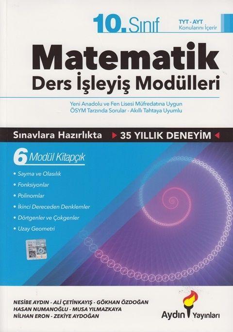 Aydın Yayınları 10. Sınıf Matematik Ders İşleyiş Modülleri