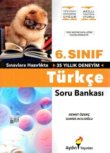 Aydın Yayınları 6. Sınıf Türkçe Soru Bankası