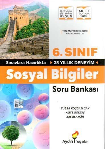 Aydın Yayınları 6. Sınıf Sosyal Bilgiler Soru Bankası