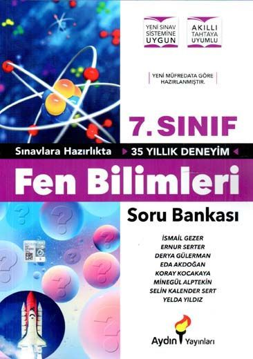 Aydın Yayınları 7. Sınıf Fen Bilimleri Soru Bankası