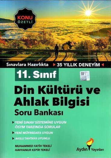 Aydın Yayınları 11. Sınıf Din Kültürü ve Ahlak Bilgisi Konu Özetli Soru Bankası