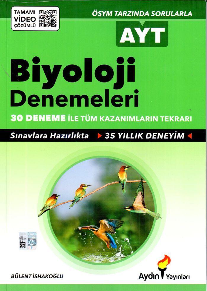 Aydın Yayınları AYT Biyoloji 30 lu Denemeleri