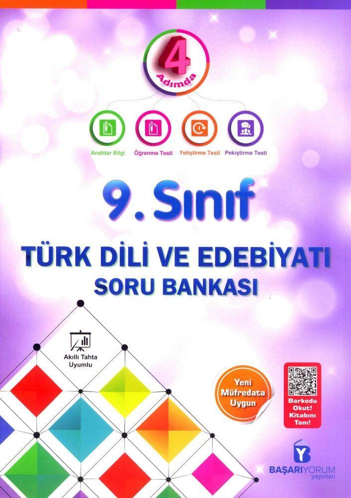 Başarıyorum Yayınları 9. Sınıf Türk Dili ve Edebiyatı 4 Adımda Soru Bankası