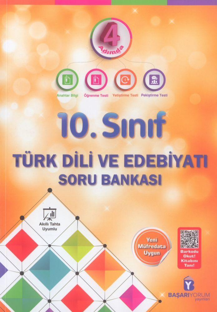 Başarıyorum Yayınları 10. Sınıf Türk Dili ve Edebiyatı 4 Adımda Soru Bankası