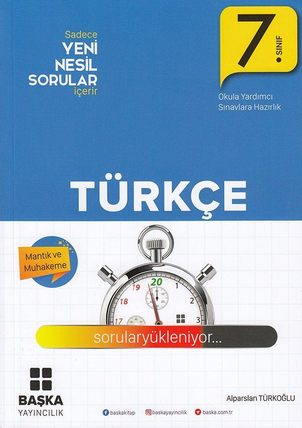 Başka Yayıncılık 7. Sınıf Türkçe Yeni Nesil Sorular