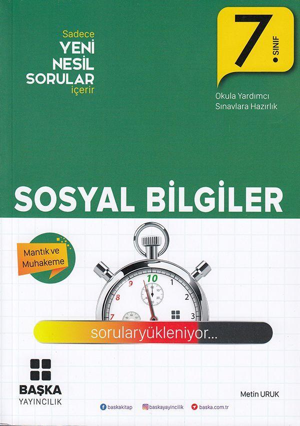 Başka Yayıncılık 7. Sınıf Sosyal Bilgiler Yeni Nesil Sorular