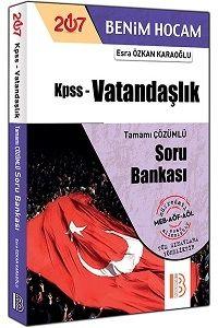 Benim Hocam Yayınları 2017 KPSS Vatandaşlık Tamamı Çözümlü Soru Bankası