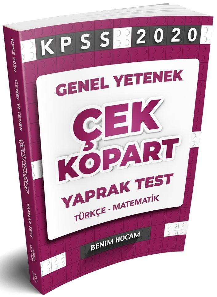 Benim Hocam Yayınları 2020 KPSS Genel Yetenek Çek Kopart Yaprak Test