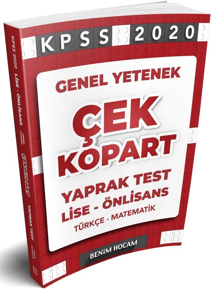 Benim Hocam Yayınları 2020 KPSS GY Lise Önlisans Çek Kopart Yaprak Test