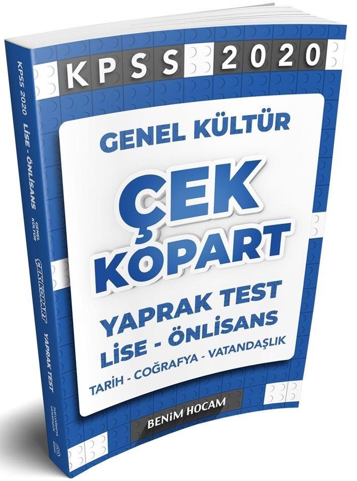 Benim Hocam Yayınları 2020 KPSS GK Lise Önlisans Çek Kopart Yaprak Test