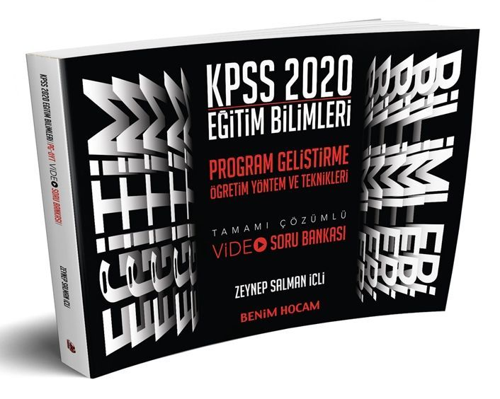 Benim Hocam Yayınları 2020 Eğitim Bilimleri Program Geliştirme Öğretim Yöntem ve Teknikleri Video Soru Bankası