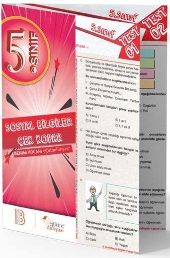 Benim Hocam Yayınları 5. Sınıf Sosyal Bilgiler Çek Kopar Yaprak Test