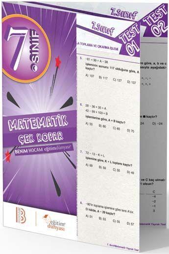 Benim Hocam Yayınları 7. Sınıf Matematik Çek Kopar Yaprak Test