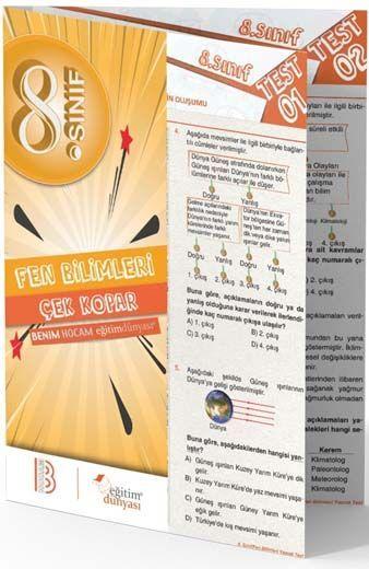 Benim Hocam Yayınları 8. Sınıf Fen Bilimleri Çek Kopar Yaprak Test