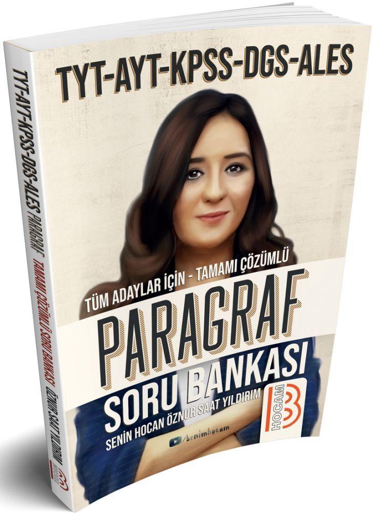 Benim Hocam Yayınları TYT AYT KPSS DGS ALES için Paragraf Tamamı Çözümlü Soru Bankası