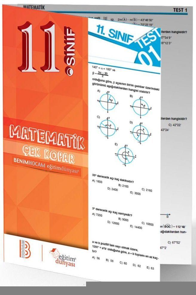 Benim Hocam Yayınları 11. Sınıf Matematik Çek Kopar Yaprak Test