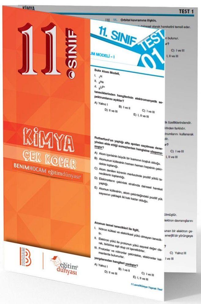 Benim Hocam Yayınları 11. Sınıf Kimya Çek Kopar Yaprak Test