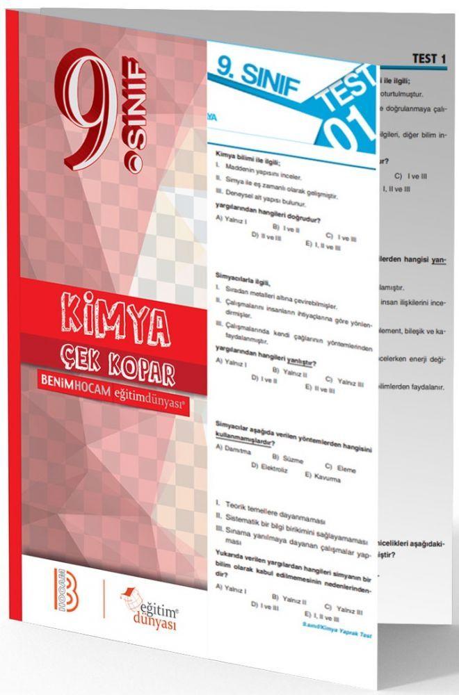 Benim Hocam Yayınları 9. Sınıf Kimya Çek Kopar Yaprak Test