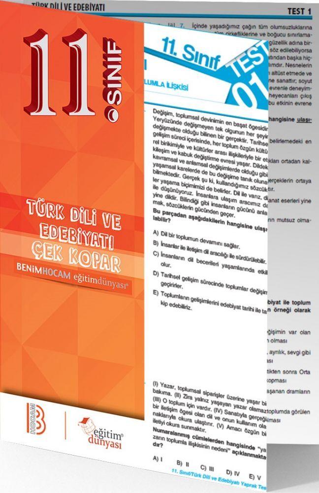 Benim Hocam Yayınları 11. Sınıf Türk Dili ve Edebiyatı Çek Kopar Yaprak Test