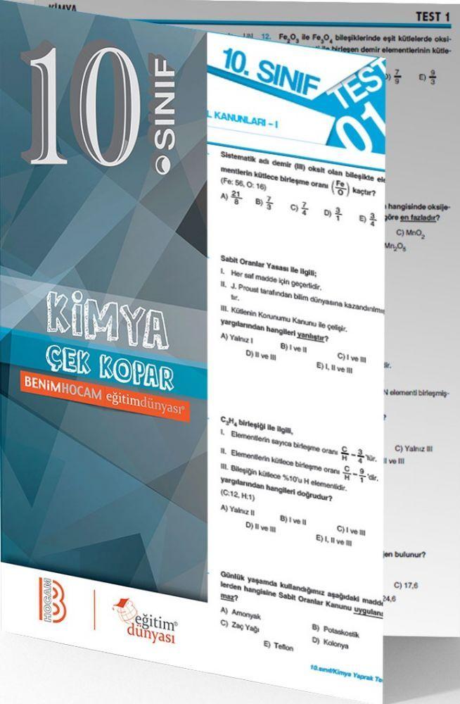 Benim Hocam Yayınları 10. Sınıf Kimya Çek Kopar Yaprak Test