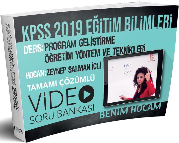 Benim Hocam Yayınları KPSS 2019 Eğitim Bilimleri Program Geliştirme Öğretim Yöntem ve Teknikleri Tamamı Çözümlü Soru Bankası