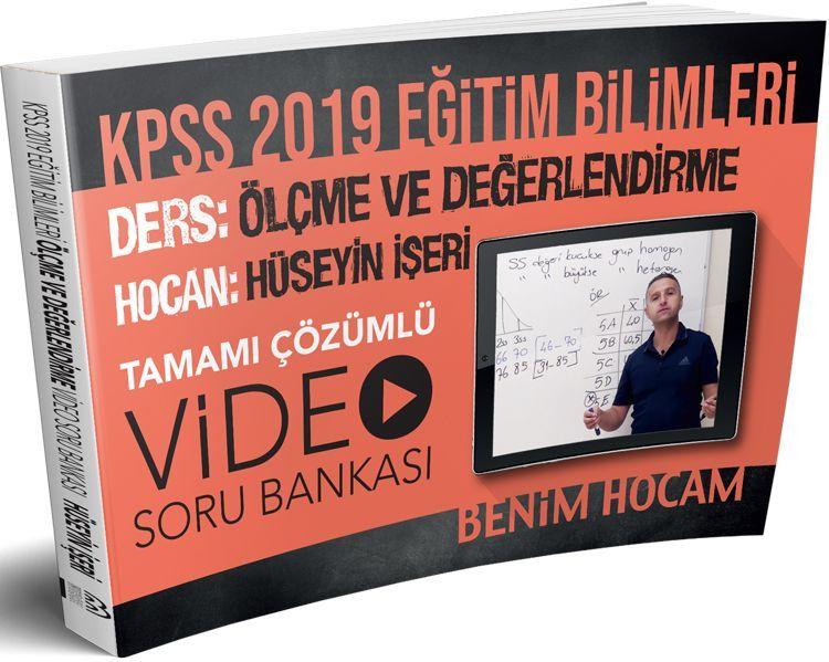 Benim Hocam Yayınları 2019 KPSS Eğitim Bilimleri Ölçme ve Değerlendirme Tamamı Çözümlü Video Soru Bankası