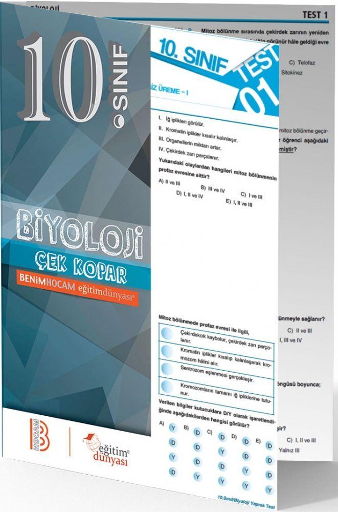Benim Hocam Yayınları 10. Sınıf Biyoloji Çek Kopar Yaprak Test