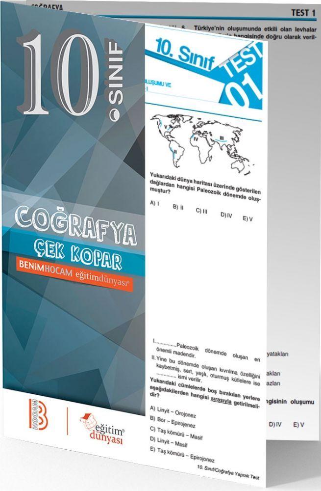 Benim Hocam Yayınları 10. Sınıf Coğrafya Çek Kopar Yaprak Test Hediyeli