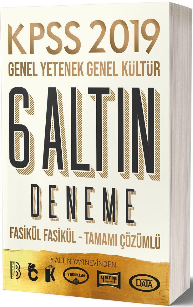 Benim Hocam Yayınları 2019 KPSS Genel Yetenek Genel Kültür 6 Altın Deneme