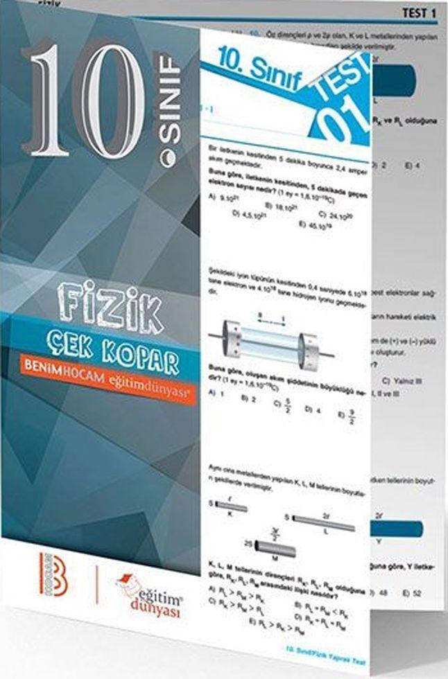 Benim Hocam Yayınları 10. Sınıf Fizik Çek Kopar Yaprak Test