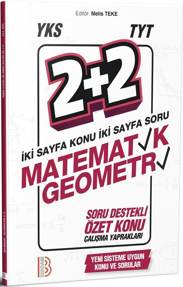 Benim Hocam Yayınları TYT Matematik Geometri 2+2 Soru Destekli Özet Konu Çalışma Yaprakları