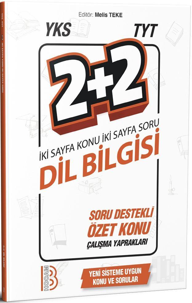 Benim Hocam Yayınları TYT Dil Bilgisi 2+2 Soru Destekli Özet Konu Yapraklar