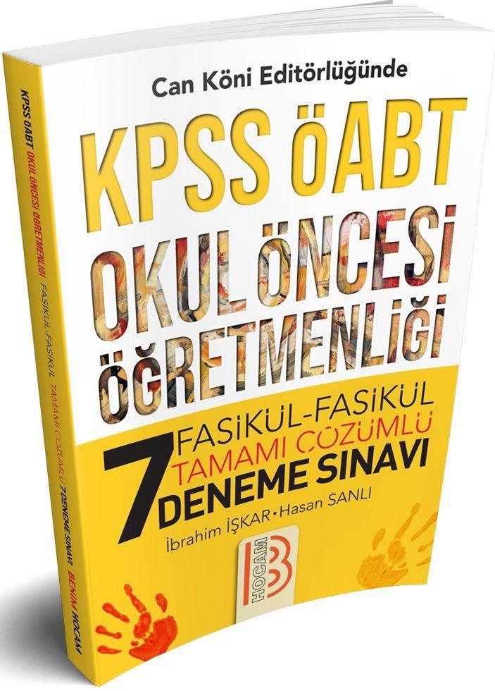 Benim Hocam Yayınları KPSS ÖABT Okul Öncesi Öğretmenliği 7 Fasikül Fasikül Deneme Sınavı