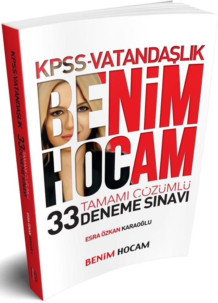 Benim Hocam Yayınları KPSS Vatandaşlık Tamamı Çözümlü 33 Deneme