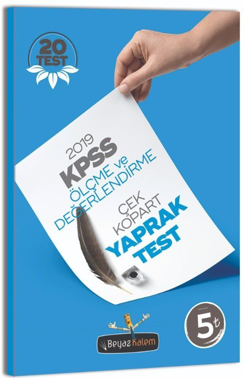 Beyaz Kalem 2019 KPSS Eğitim Bilimleri Ölçme Değerlendirme Çek Kopart Yaprak Test