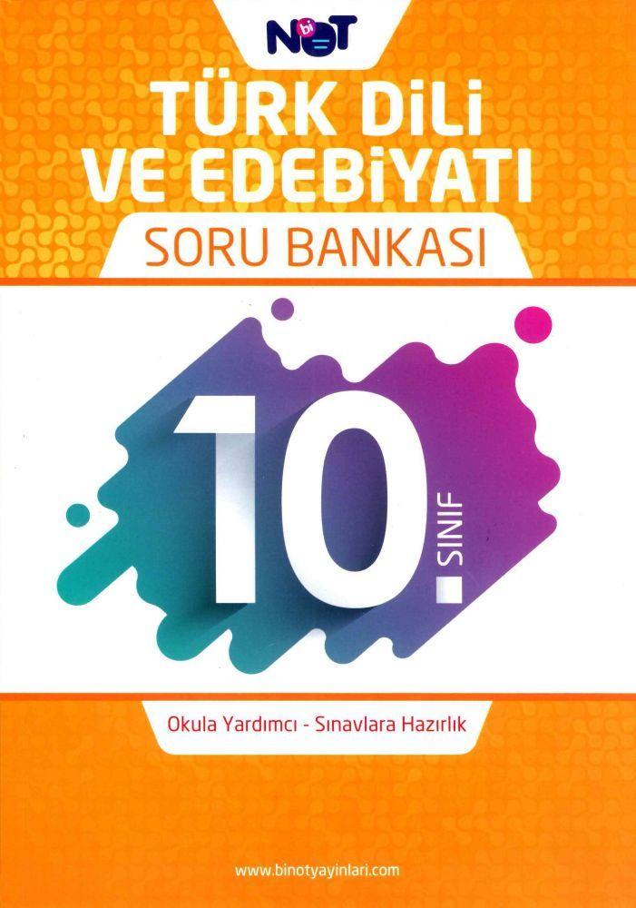 Bi Not Yayınları 10. Sınıf Türk Dili ve Edebiyatı Soru Bankası