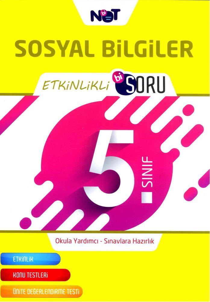 Bi Not Yayınları 5. Sınıf Sosyal Bilgiler Etkinlikli Bi Soru