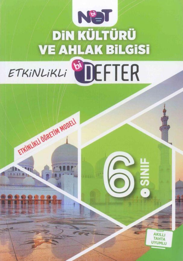 Bi Not Yayınları 6. Sınıf Din Kültürü ve Ahlak Bilgisi Etkinlikli Bi Defter