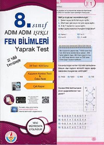 Bilal Işıklı Yayınları 8. Sınıf Adım Adım Işıklı Fen Bilimleri Yaprak Test