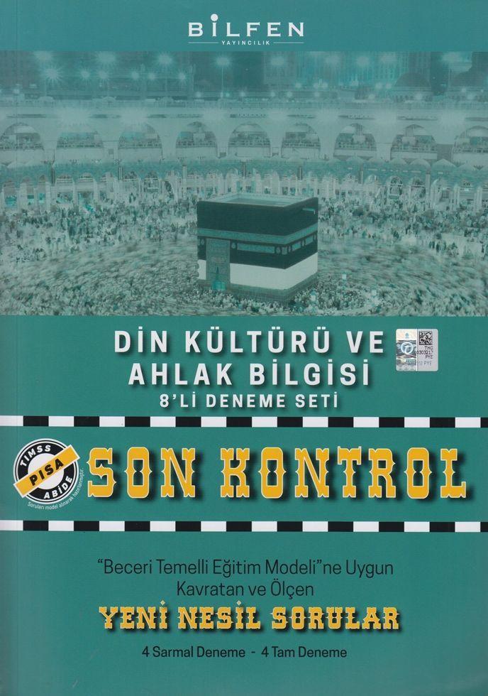 Bilfen Yayınları 8. Sınıf Din Kültürü ve Ahlak Bilgisi Son Kontrol 8 li Deneme Seti